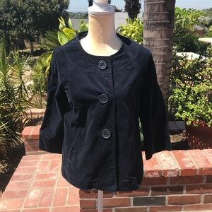 Darling Gap 3/4 sleeve navy velvet jacket
